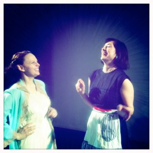Eve Udesky and Sarah Sakaan in Libby Emmons' Connie in Detroit, directed by Ali Ayala
