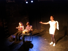Mary Sheridan, Katya Schapiro, and Ana Valle in Suzan-Lori Parks' 365 Days/365 Plays