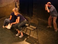 Danielle Davenport, Genevieve de Gailande, and Jarel Davidow in Suzan-Lori Parks' 365 Days/365 Plays