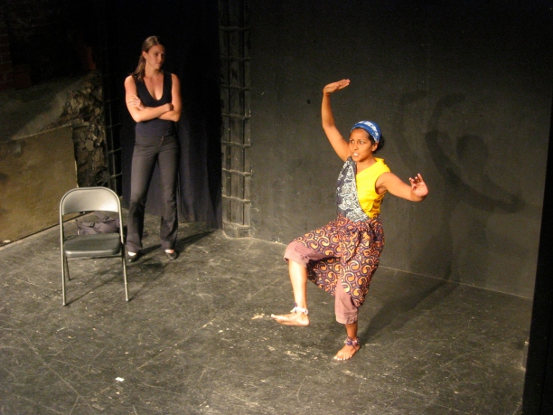 Karen Sours and Indika Senanayake in Suzan-Lori Parks' 365 Days/365 Plays