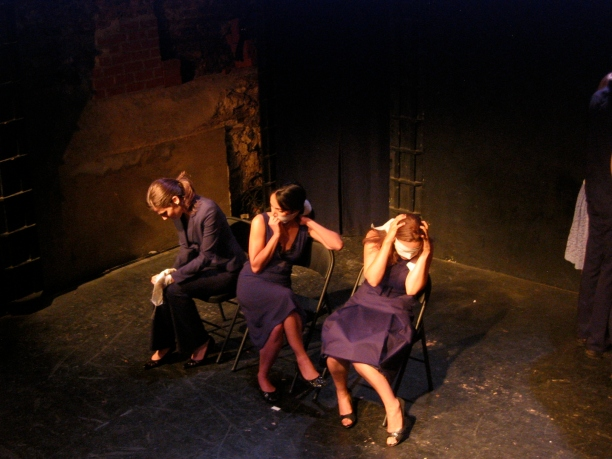 Karen Sours, Chanelle Benz, and Eve Udesky in Suzan-Lori Parks' 365 Days/365 Plays