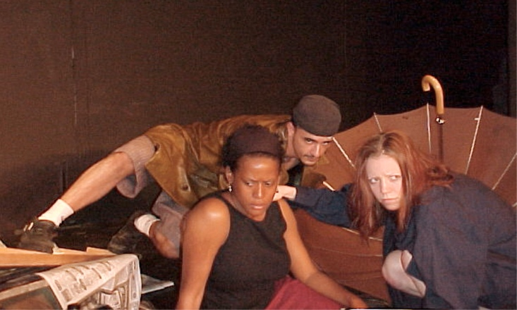 W. Shay Hammond, Jeremy Chacon, and Amanda Schoonover in Libby Emmons' In Ruin